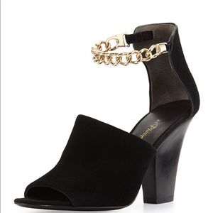 3.1 Phillip Lim Berlin Ankle Chain Suede Sandal